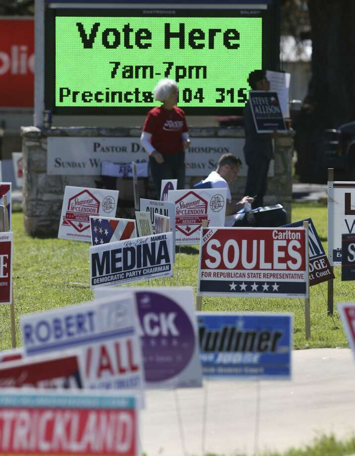 Some patterns can be gleaned from the turnout in the March 6 primary. Photo: John Davenport /San Antonio Express-News / ©John Davenport/San Antonio Express-News