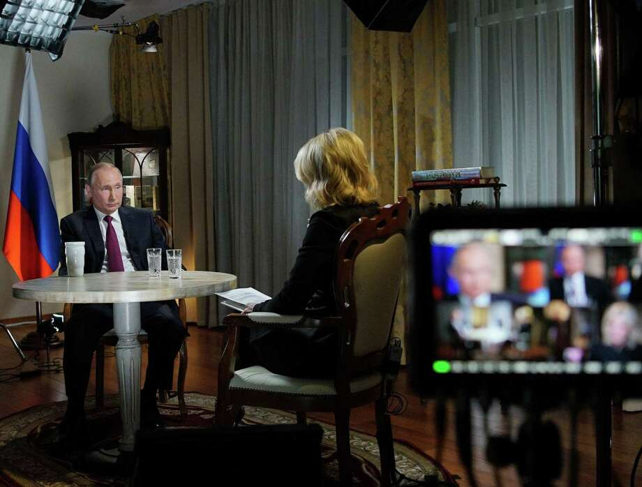 "In an interview recently with NBC's Megyn Kelly, Russia's President Vladimir Putin said of people accused of meddling in U.S. elections: ""Maybe they're not even Russians. Maybe they're Ukrainians, Tatars, Jews, just with Russian citizenship."" Photo: ALEXEI DRUZHININ /AFP /Getty Images / AFP or Licensors"