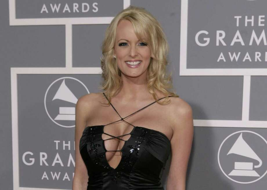 Adult film actress Stormy Daniels arrives for the 49th Annual Grammy Awards in Los Angeles in 2017. Evangelical Christians' ability to look past credible allegations that President Trump paid off a porn star before his election to prevent her from disclosing their affair smacks of hypocrism. Photo: Matt Sayles /Associated Press / Sayles