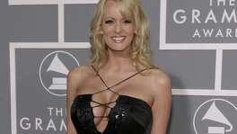 Adult film actress Stormy Daniels arrives for the 49th Annual Grammy Awards in Los Angeles in 2017. Evangelical Christians' ability to look past credible allegations that President Trump paid off a porn star before his election to prevent her from disclosing their affair smacks of hypocrism.