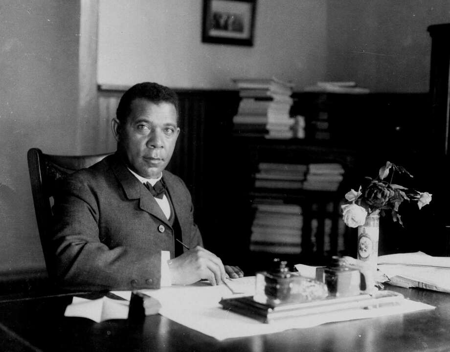 "Booker T. Washington, the famous ex-slave, was a boy when Emancipation came to his Virginia plantation. He had been called only Booker until enrolling in school. ""When the teacher asked me what my full name was, I calmly told him, Booker Washington,'' he wrote in his autobiography, ""Up from Slavery."" Photo: /AP / AP1894"