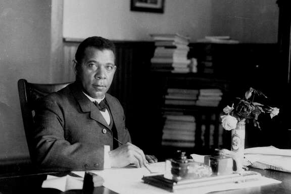 """Booker T. Washington, the famous ex-slave, was a boy when Emancipation came to his Virginia plantation. He had been called only Booker until enrolling in school. """"When the teacher asked me what my full name was, I calmly told him, Booker Washington,'' he wrote in his autobiography, """"Up from Slavery."""""""