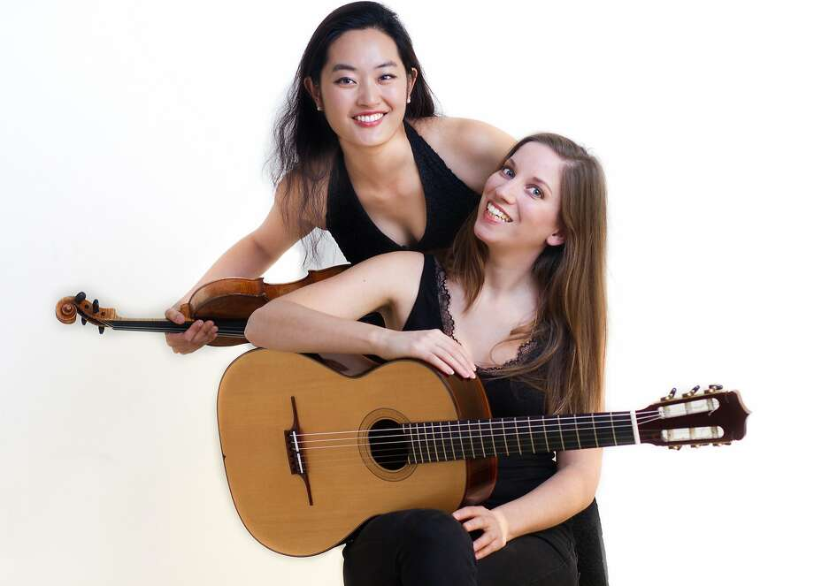 Violinist YuEun Kim and guitarist Ines Thomé form Yu & I. The duo performs April 8 at San Francisco's Old First Church. Photo: Courtesy Yu & I