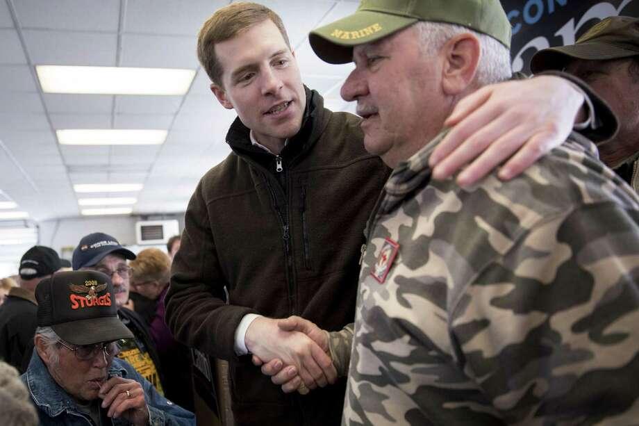 Marine Corps veteran Conor Lamb won as a Democrat in deep-red Pennsylvania territory. Photo: Andrew Harrer /Bloomberg / © 2018 Bloomberg Finance LP