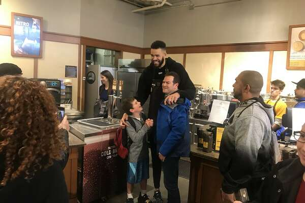 Javale Mcgee at Peet's Coffee