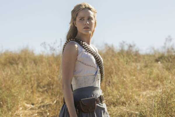 "Evan Rachel Wood in the season premiere of the second season of HBO's ""Westworld."""