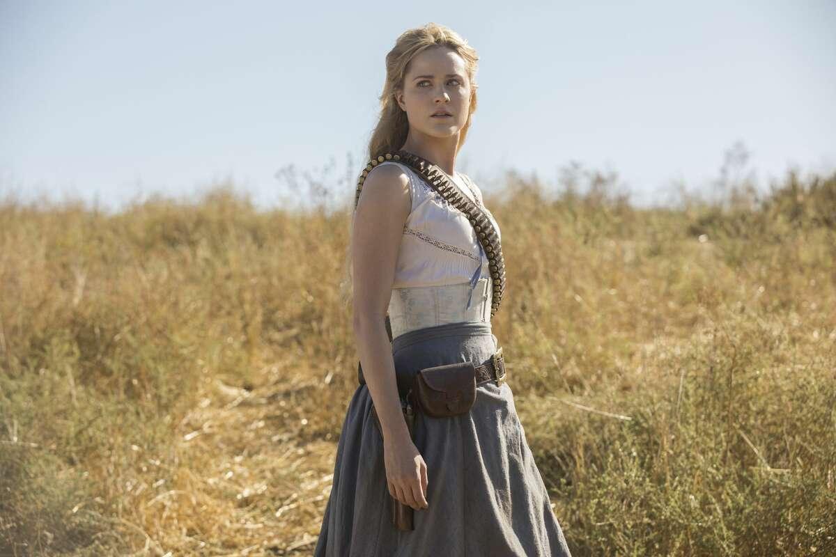 "Evan Rachel Wood in the season premiere of the second season of HBO's ""Westworld."""
