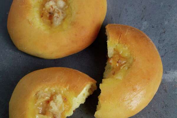 Kolaches with apricot streusel.