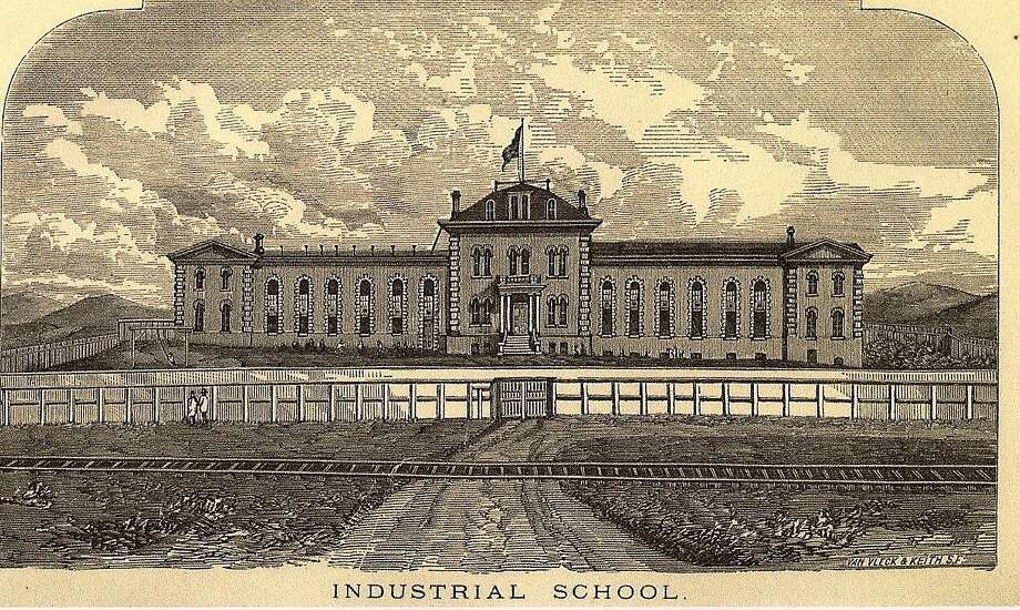 A drawing shows the San Francisco Industrial School, which was more of a prison than a haven for the city's destitute children of the 19th century. Photo: San Francisco Sheriff's Department