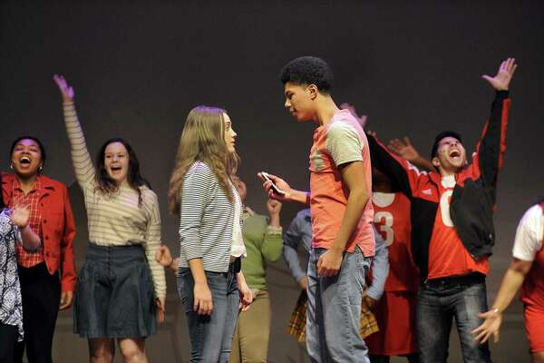 "Danbury High School Productions is presenting Disney's  ""High School Musical"" Thursday through Saturday, March 22 to 24th.  Photo Thursday, March 15, 2018."