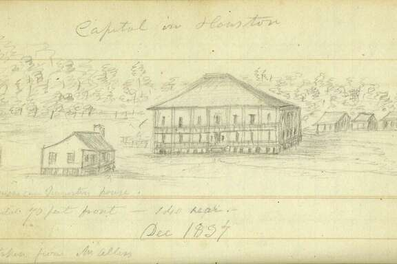 Mary Austin Holley's pencil sketches were the first images of early-day Houston.