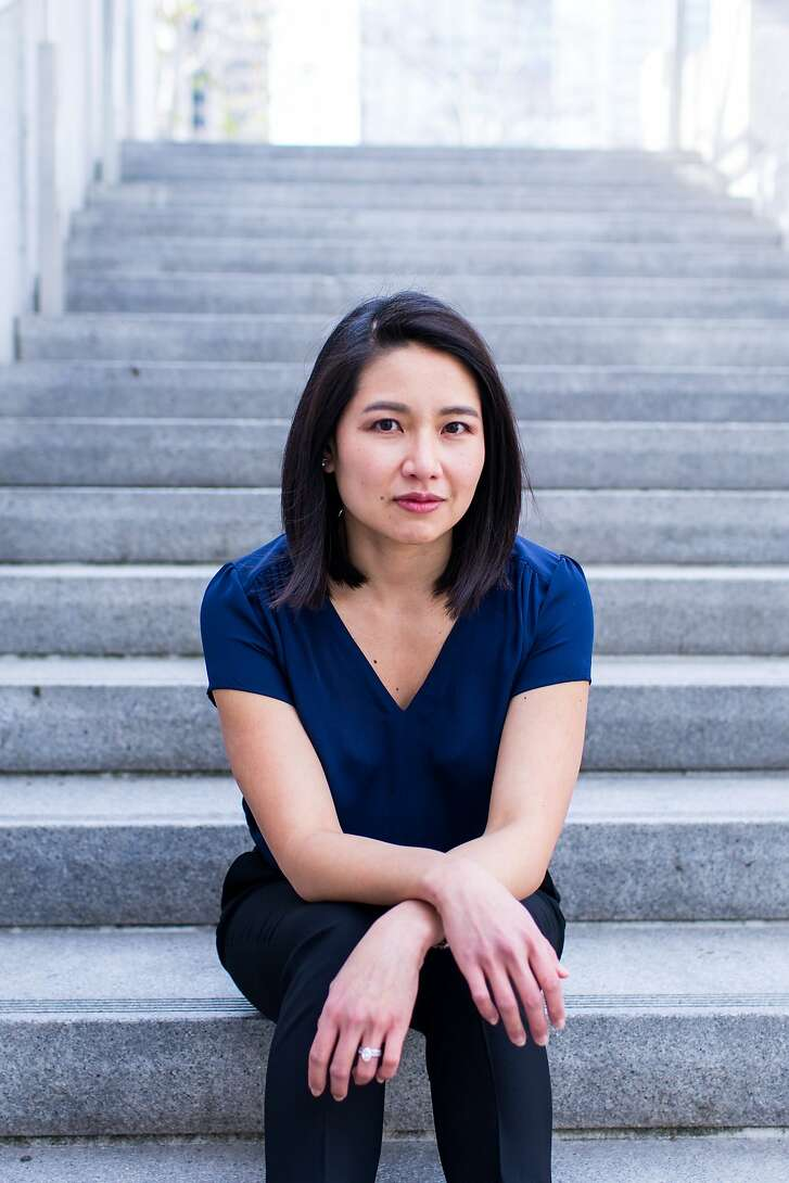 "Author Kirstin Chen reads from ""Bury What We Cannot Take"" at the Bindery in S.F. on Thursday, March 22.   Photo: Sarah Deragon"