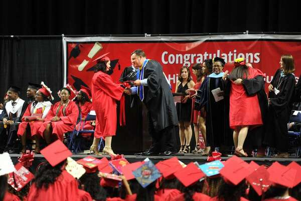 Central High School Graduation at the Webster Bank Arena in Bridgeport, Conn. on Tuesday, June 20, 2017.