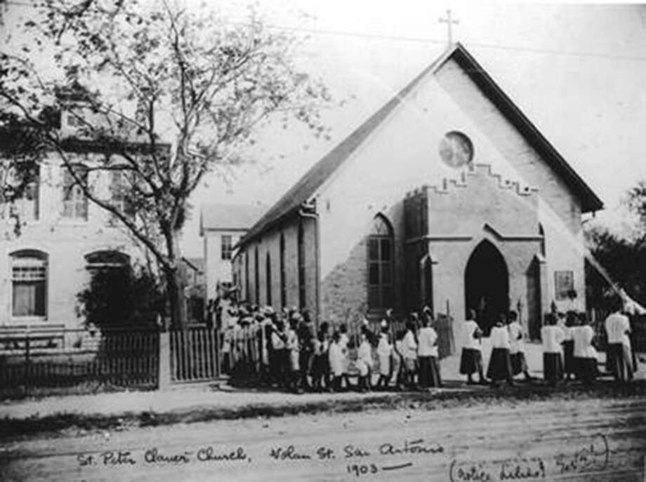 Students in 1903 walk in a procession into St. Peter Claver Church, a church built in 1888 by Margaret Mary Healy Murphy to serve the African-American community on the city's East Side. Photo: Courtesy The Sisters Of The Holy Spirit