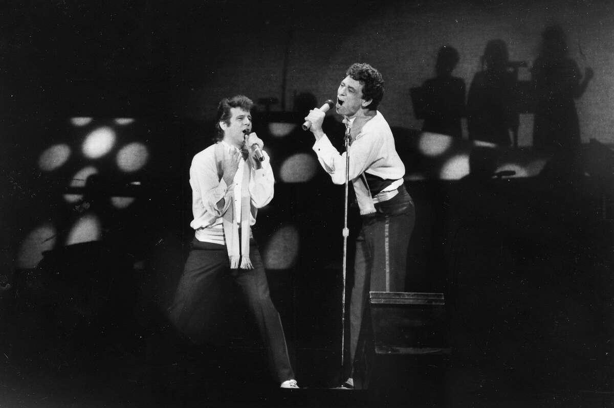 Bammies awards, 1984. Greg Kihn and Glenn Walters. Photo by Steve Ringman, Mar 2, 1984. Ran Fri Mar 5 1984, p.41