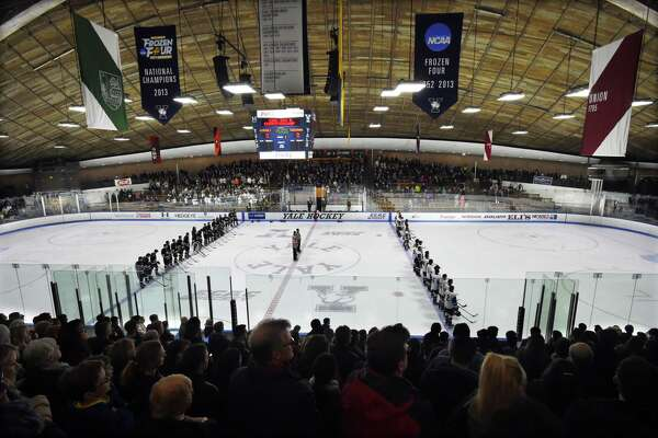Farmington Valley vs. Guilford in the CIAC Division II state ice hockey championship, March 16, 2018, at Ingalls Rink in New Haven.