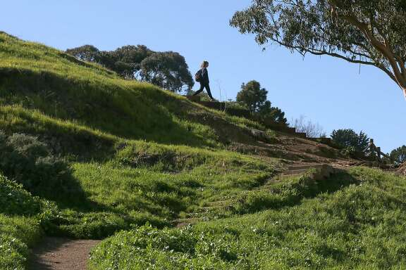 Part of the trail at Billy Goat Hill on Friday, March 16, 2018, in San Francisco, Calif.