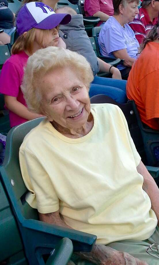 Madeline Benson, who was born on March 13, 1918, enjoys an outing. The West Sand Lake resident is an avid bridge player. (Family photo)