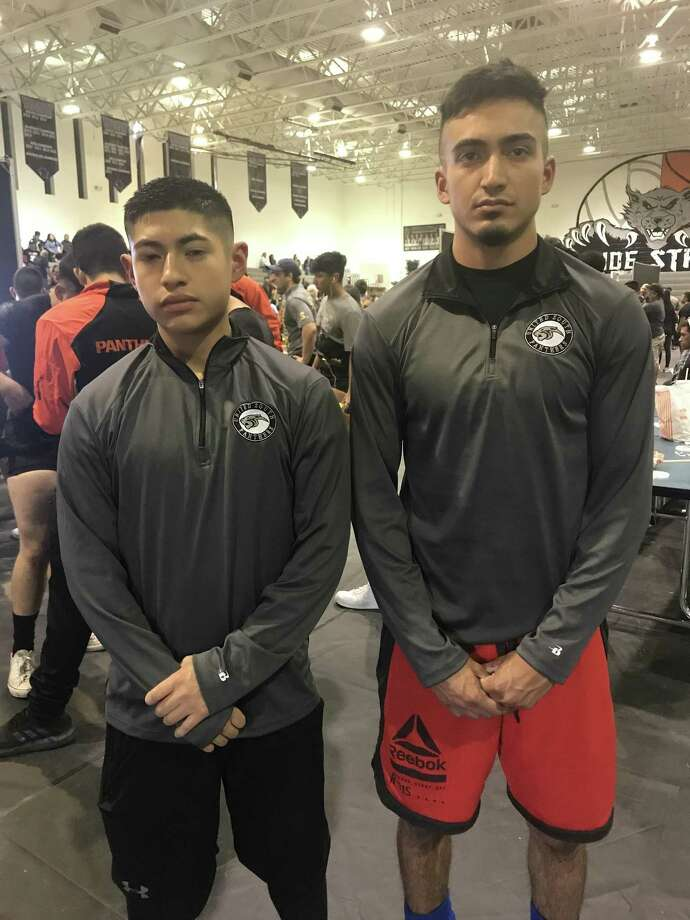 United South's Oscar Martel and Jose Alcorta are representing Laredo at the Texas High School Powerlifting Championships in Abilene March 24 along with LBJ's Myriel Jaramillo and Nixon's Eddie Macias. Photo: Courtesy Photo