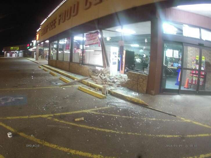 Dayton Police Department is investigating a smash-and-grab burglary of Thrif-Tee Food Center.