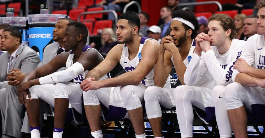 DETROIT, MI - MARCH 16:  The TCU Horned Frogs bench reacts during the second half against the Syracuse Orange in the first round of the 2018 NCAA Men's Basketball Tournament at Little Caesars Arena on March 16, 2018 in Detroit, Michigan.  (Photo by Elsa/Getty Images) Photo: Elsa/Getty Images