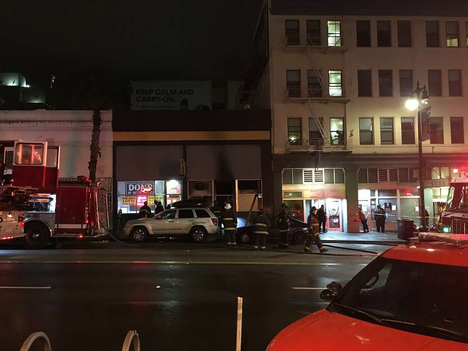One person died in a fire on 6th Street early Saturday in San Francisco. Photo: San Francisco Fire Department