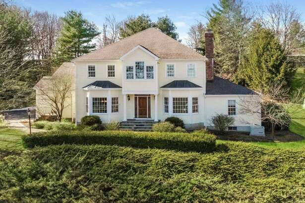 The 2.52-acre property in Wilton has been listed for $1.139 million. The grounds include a four-tree orchard and perennial and vegetable gardens.