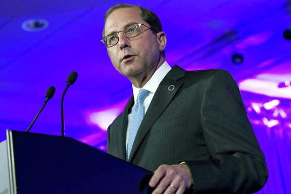 Department of Health and Human Services Secretary Alex Azar speaks at the National Governor Association 2018 winter meeting in Washington. The Trump administration is taking a pragmatic new track on health care with officials promising consumer-friendly changes and savings in areas from computerized medical records to prescription drugs. Azar has been rolling out the agenda, saying it has the full backing of President Donald Trump.