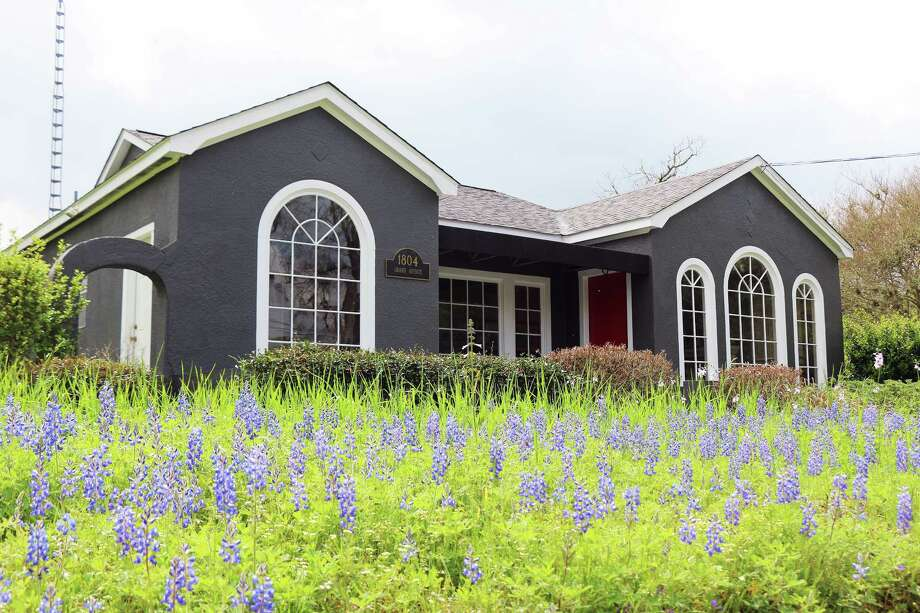 The front of the Victor Barranco State Farm Insurance Agency is awash with blue compliments of the state's flower. The bluebonnets began blooming about a week ago and should last for another two to three weeks. Photo: David Taylor