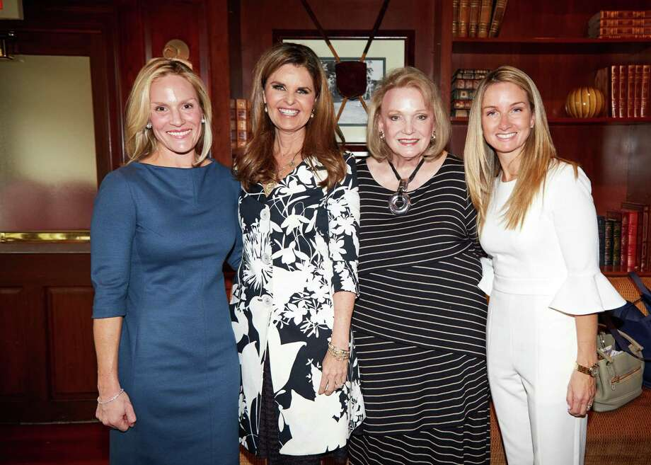 Center for HOPE Luncheon co-chairs Lauren Caffray, Jan Dilenschneider and  Nancy Fazzinga with Maria Shriver, second from left. Photo: Contributed