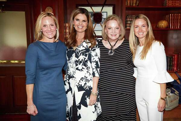 Center for HOPE Luncheon co-chairs Lauren Caffray, Jan Dilenschneider and  Nancy Fazzinga with Maria Shriver, second from left.
