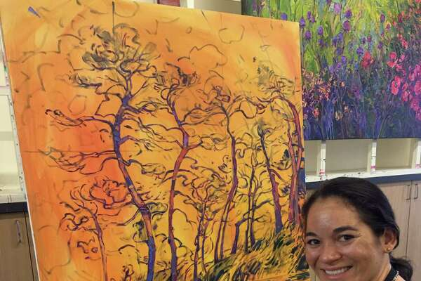 The Woodlands Waterway Arts Festival will feature the bold and vivacious oil paintings of California-based artist Erin Hanson, whose blend of modern and classic impressionism has been the founding of Open Impressionism.