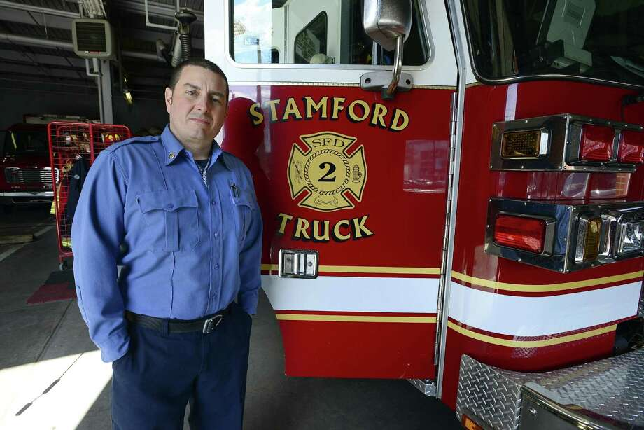Lt. Ted Stanek, of the Stamford Fire Department, says new treatment helps firefighters better deal with trauma they face on the job. Photo: Matthew Brown / Hearst Connecticut Media / Stamford Advocate