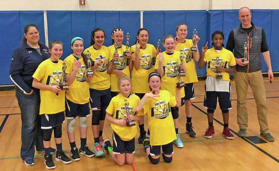 The Wilton Youth Basketball 6th grade girls team won its second straight Fairfield County Basketball League championship last weekend. Photo: Contributed Photo