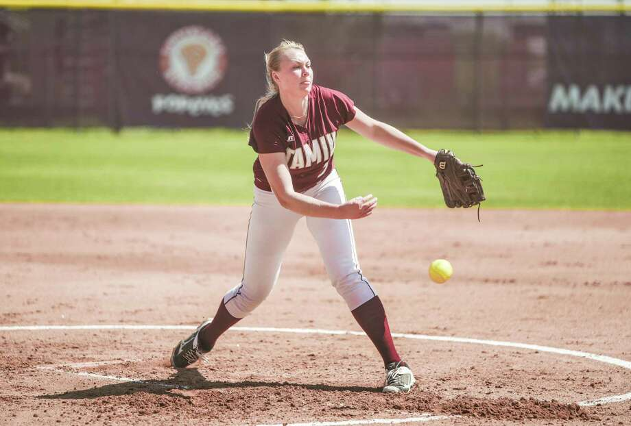 TAMIU freshman pitcher Melanie Lint threw a complete-game shutout giving up only three hits in a 1-0 win at first-place St. Mary's Saturday. She has lowered her ERA in her last 15 appearances now down to 2.74 this season, ranking 10th in the Heartland Conference. Photo: Danny Zaragoza /Laredo Morning Times File
