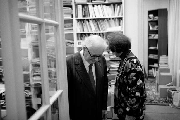 Nazi hunters Beate and Serge Klarsfeld in their Paris office on March 13.