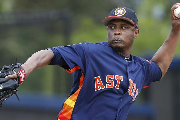 Houston Astros LHP pitcher Tony Sipp (29) as full squad workouts began during spring training day at The Ballpark of the Palm Beaches, Monday, Feb. 19, 2018, in West Palm Beach .   ( Karen Warren / Houston Chronicle )