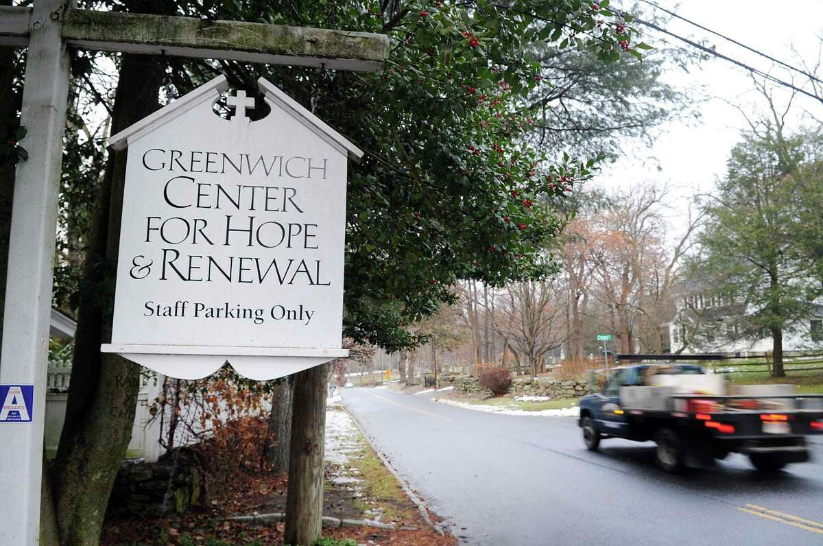 """The Center for Hope and Renewal at 237 Taconic Road in Greenwich, Conn., Tuesday, Dec. 12, 2017. The Center for Hope and Renewall, that calls itself a """"faith-friendly professional counseling and resource center,"""" has been operating out of the Stanwich Congregational Church since Sept. 2007 without formal approval from the Planning and Zoning Commission. Neighbors are upset that the center is operating a business, bringing potentially dangerous mentally unstable people into their residential neighborhood. The Stanwich Church is now requesting P&Z approval for the center."""