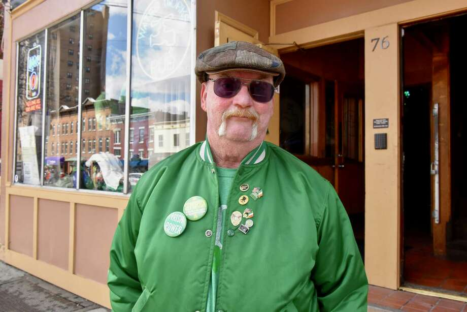 Patrick Ryan, born and raised in North Albany, has never missed the city's St. Patrick's Day Parade. On March 17, 2018, he attended the downtown parade, and the North Albany Limerick Parade. (Massarah Mikati/Times Union)