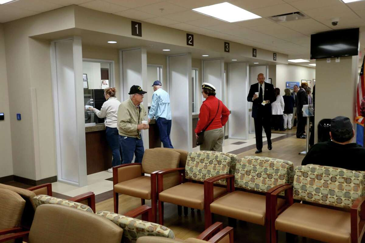 Lobby of the Veterans Affairs Outpatient Clinic Friday, Dec. 4, 2015, in Conroe, Texas. ( Gary Coronado / Houston Chronicle )