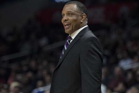 New Orleans Pelicans head coach Alvin Gentry during the second half of an NBA basketball game against the Los Angeles Clippers Tuesday, March 6, 2018, in Los Angeles. (AP Photo/Kyusung Gong)