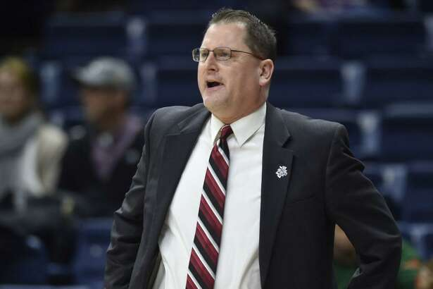 """St. Francis coach Joe Haigh said, """"Nobody else in the world stopped (UConn), so we were going to try to outscore them"""" in Saturday's first-round NCAA Tournament game."""