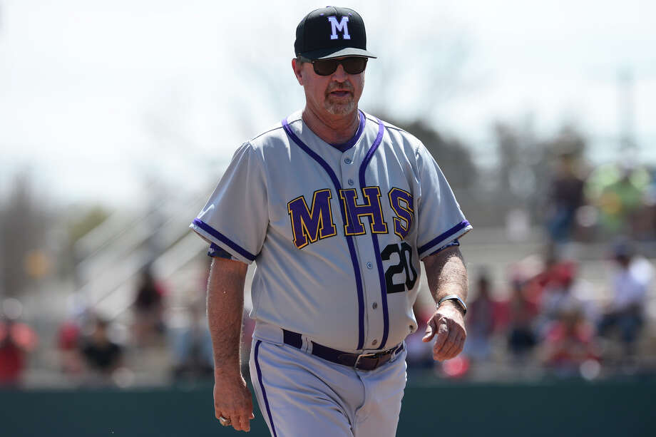 Midland High baseball head coach Barry Russell walks off the field after talking with his team during a game against Odessa High March 17, 2018, at Zachery Field.  James Durbin/Reporter-Telegram Photo: James Durbin