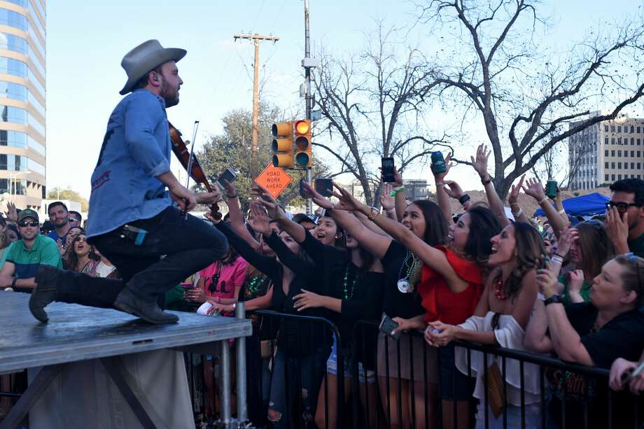 Josh Abbott Band performs during the Patrick's Day Music Fest hosted by Mac's Bar-B-Q March 17, 2018, in downtown Midland. James Durbin/Reporter-Telegram Photo: James Durbin