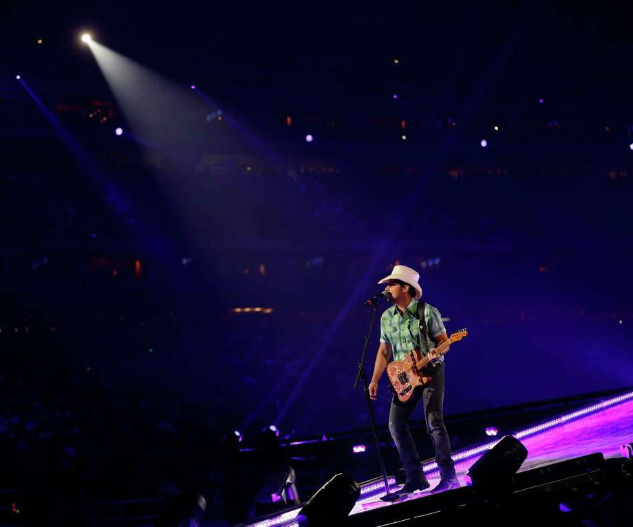 Brad Paisley performs in concert at the Houston Livestock Show and Rodeo at NRG Stadium, Saturday, March 17, 2018, in Houston. Photo: Karen Warren, Houston Chronicle / © 2018 Houston Chronicle
