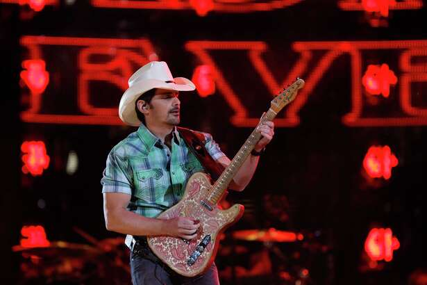 Brad Paisley performs in concert at the Houston Livestock Show and Rodeo at NRG Stadium, Saturday, March 17, 2018, in Houston.