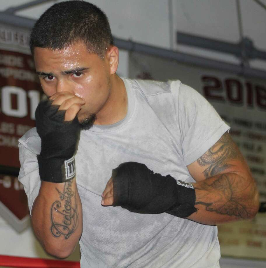 Boxer Omar Bordoy trains at Champs Boxing Club in Danbury July 14, 2017. Photo: Richard Gregory / Richard Gregory