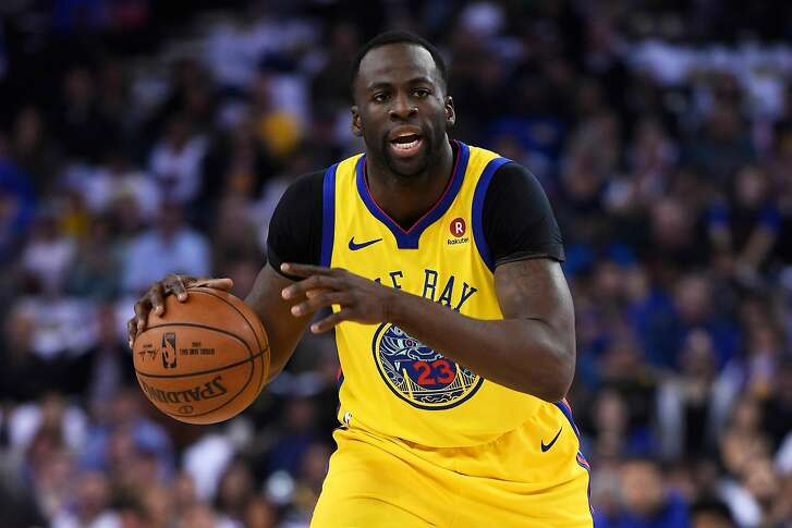 In a March 8, 2018, file image, the Golden State Warriors' Draymond Green looks to pass against the San Antonio Spurs at the Oracle Arena in Oakland, Calif. On Saturday, March 17, 2018, in Phoenix, Green scored 25 points with 11 rebounds in a 124-109 win against the Suns. (Jose Carlos Fajardo/Bay Area News Group/TNS)