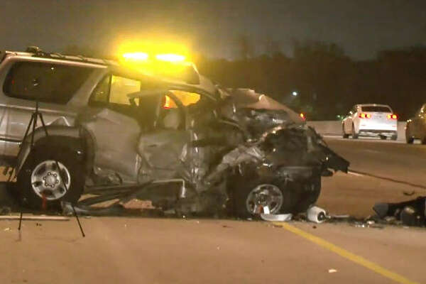 Two drivers are in the hospital after a wrong-way wreck overnight.