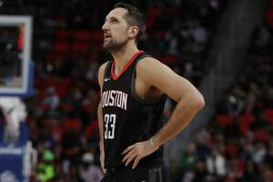Houston Rockets forward Ryan Anderson (33) during the second half of an NBA basketball game against the Detroit Pistons, Saturday, Jan. 6, 2018, in Detroit. (AP Photo/Carlos Osorio)